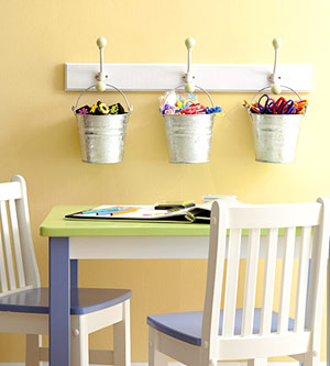 HANG MOST-USED SCRAPBOOKING SUPPLIES NEAR TABLE SPACE