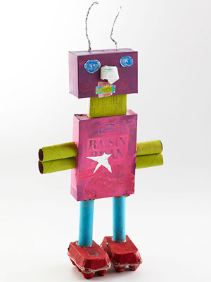 Robot made from recyclables