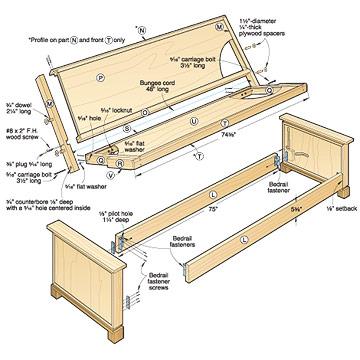 wood futon plans