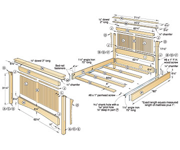 bed woodworking plans