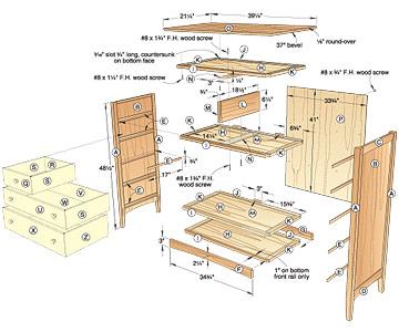 shaker dresser woodworking plans