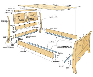 woodwork plans for bed