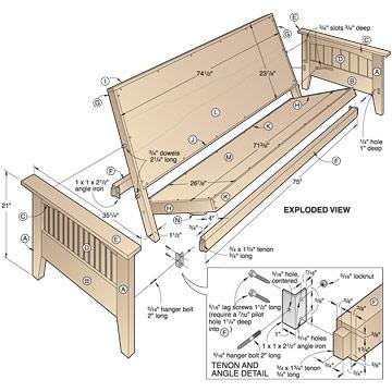 futon bed plans