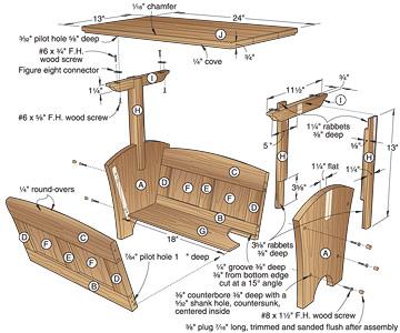 plans for magazine rack