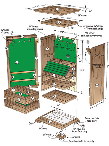 woodworking plans jewelry cabinet