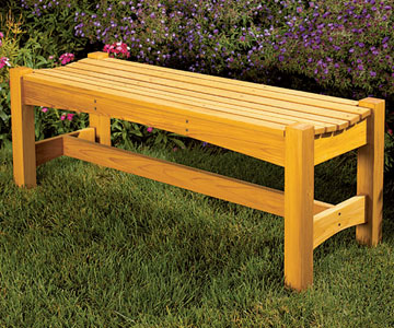 free plan garden bench