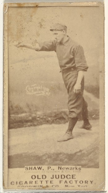 "Frederick Lander ""Dupee"" Shaw, Pitcher, Newark Little Giants, from the Old Judge series (N172) for Old Judge Cigarettes"