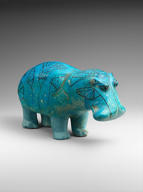 A blue hippopotamus from ancient Egypt
