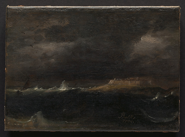 Sea Fortress, Peder Balke (Norwegian, Helgøya, Nes 1804–1887 Oslo (Kristiania)), Oil on canvas