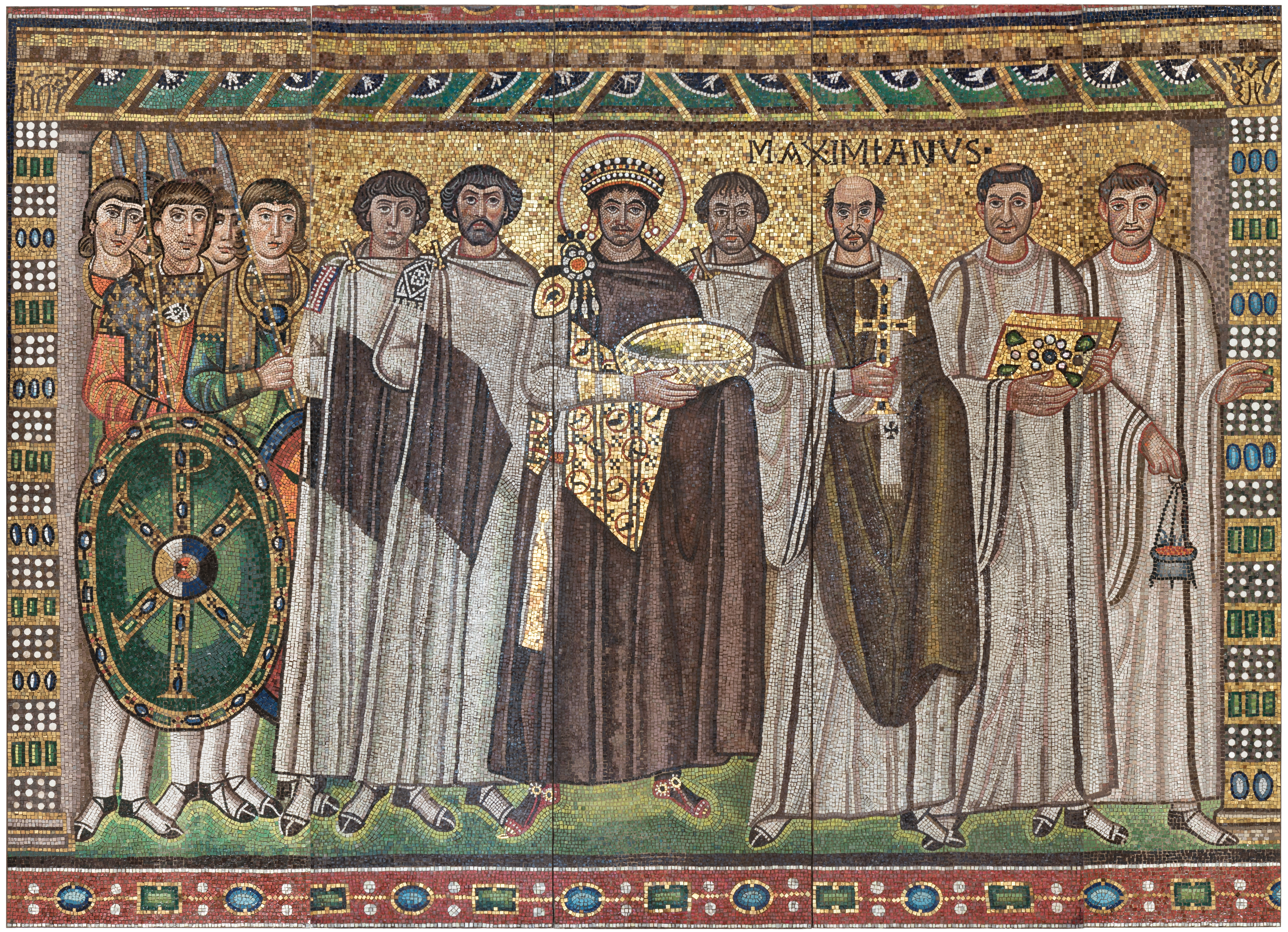 Emperor Justinian And Members Of His Court Byzantine
