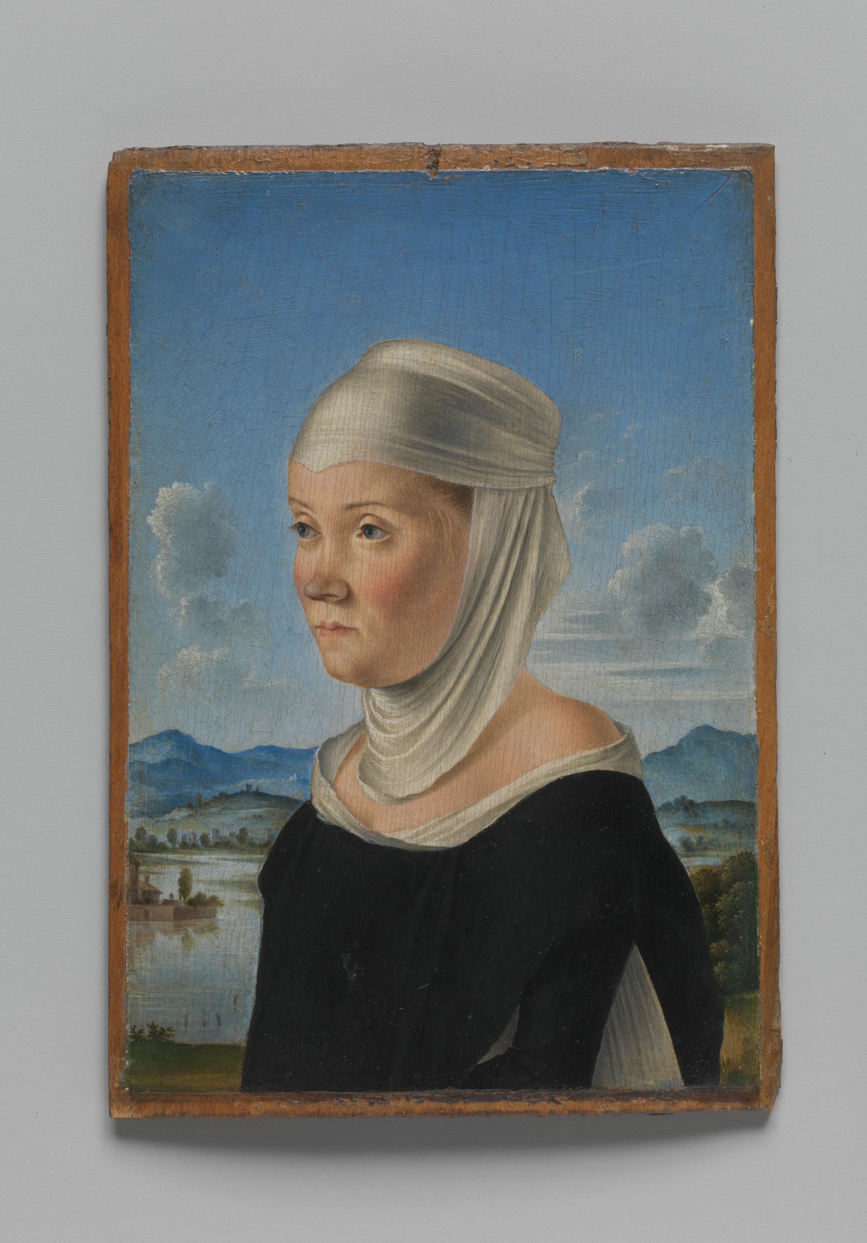 Jacometto Jacometto Veneziano Portrait Of A Woman