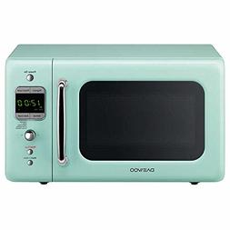 daewoo retro style 0 7 cuft 700w mint green microwave kor 7lre major appliances patterer microwave ovens