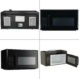 microwave ovens magic chef microwave oven 1 6 cu ft over the range hood light ventilation black startupacademy md