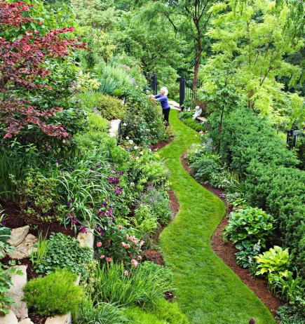 Garden Tour: Tame a Steep Backyard | Midwest Living on Steep Sloping Garden Ideas  id=45796
