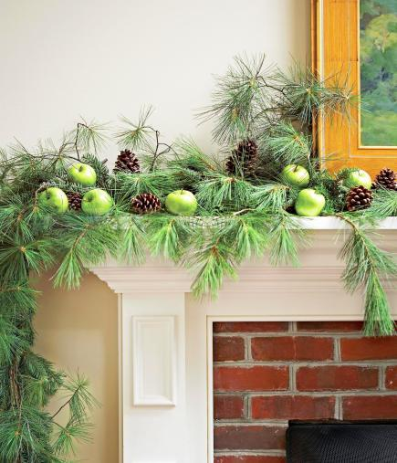 50 Gorgeous Holiday Mantel Decorating Ideas   Midwest Living Natural simplicity