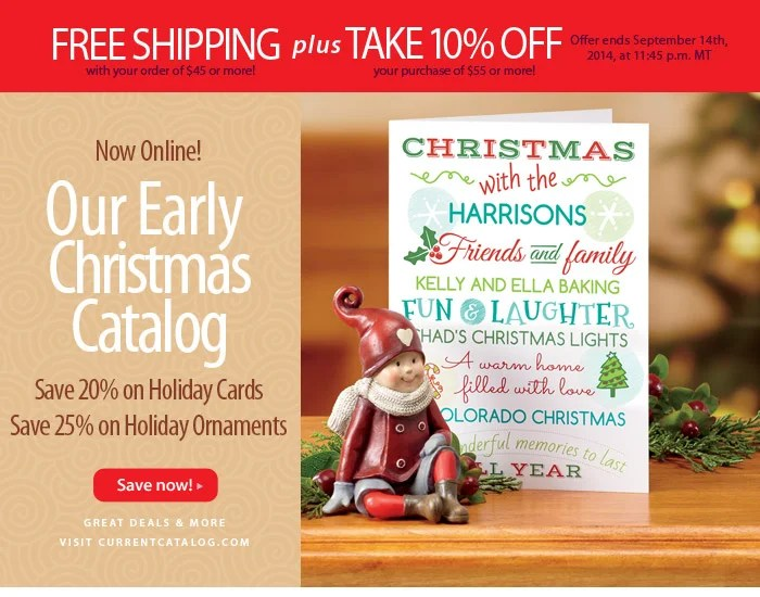 Current Catalog Early Christmas Catalog 20 Off