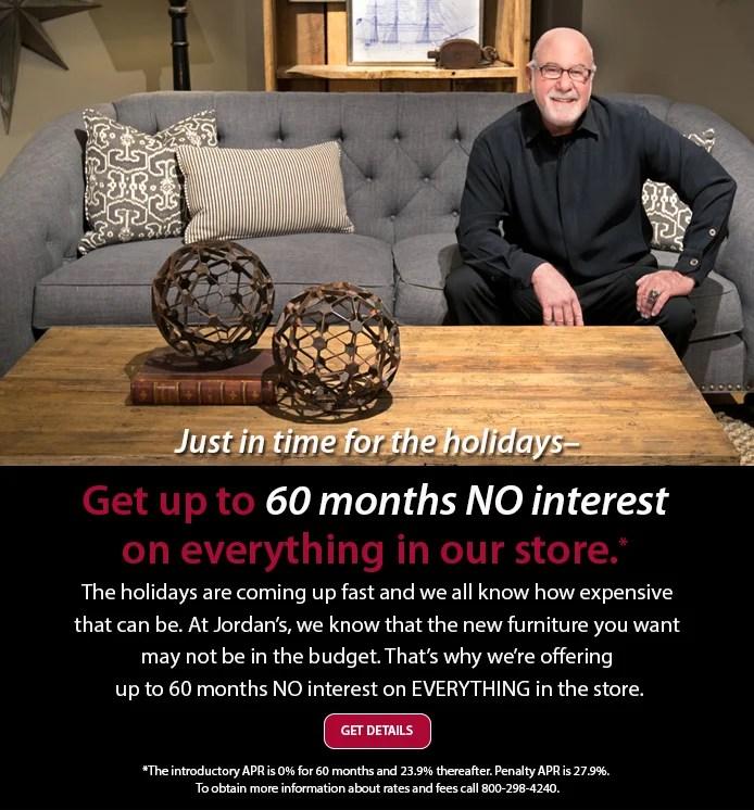 Jordans Furniture Get Up To 60 Months NO Interest On