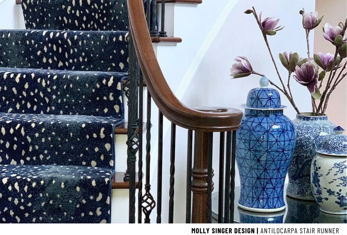Stark Carpet Make A Statement With Animal Print Stair Runners | Roll Runners For Stairs | Flooring | Carpet Stair Treads | Canyon Kazmir | Persian Garden | Area Rugs