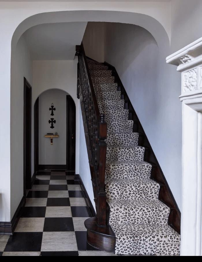 Stark Carpet Make A Statement With Animal Print Stair Runners   Leopard Carpet On Stairs   Zebra Print   Giraffe Print   Milliken   Patterned   Antilocarpa