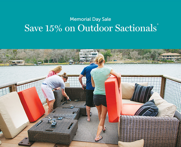 5 perks of outdoor sactionals