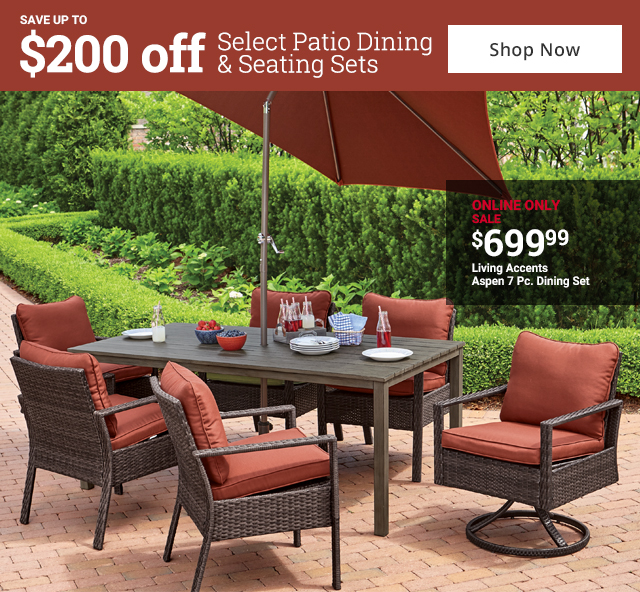 save up to 200 off select patio sets
