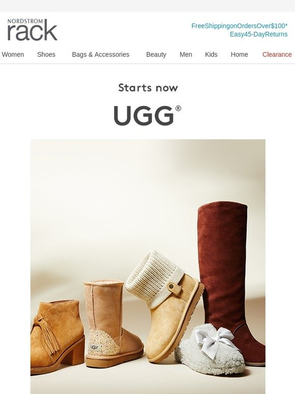 ugg event starting at 45