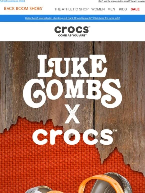 rack room shoes luke combs x crocs
