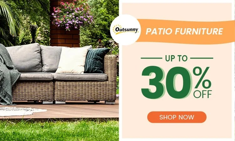 backyard with outsunny patio furniture