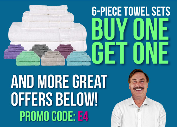 buy one get one free 6 piece towel sets