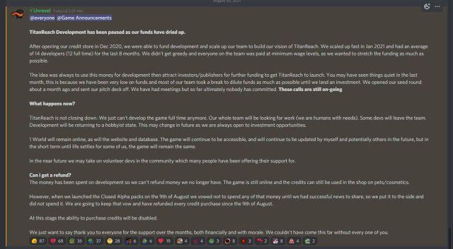 TitanReach Suspending Development