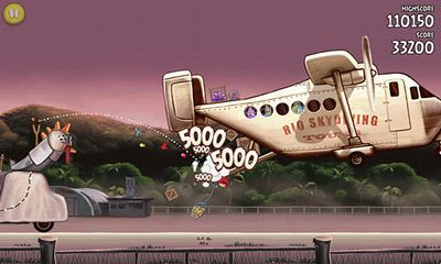 Screenshots of the Angry Birds Rio for Android tablet, phone.