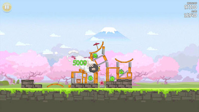 Screenshots of the Angry Birds Seasons: Cherry Blossom Festival for Android tablet, phone.