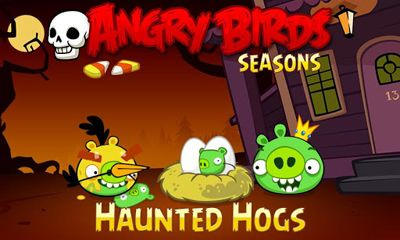 Screenshots of the Angry Birds Seasons Haunted Hogs! for Android tablet, phone.