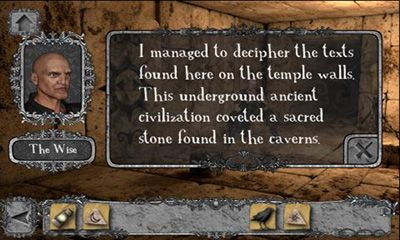 Screenshots of the Cryptic Caverns for Android tablet, phone.