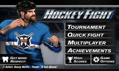 Screenshots of the Hockey Fight Pro for Android tablet, phone.