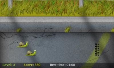 Screenshots of the Slow Racer for Android tablet, phone.