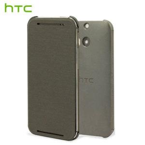 Official HTC One E8 Flip Case - Grey