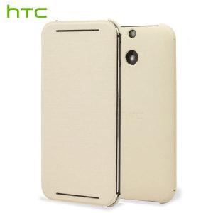 Official HTC One E8 Flip Case - White