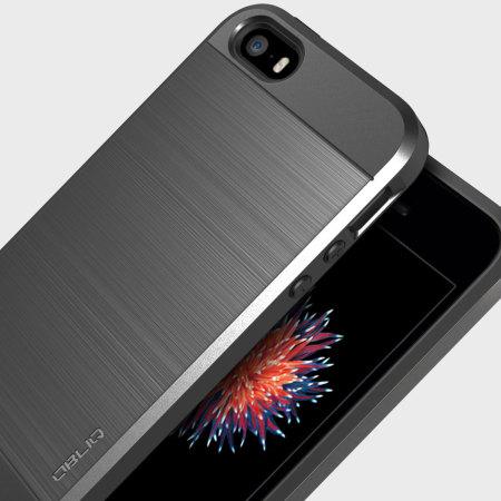 Coque IPhone SE Obliq Slim Meta Argent Titane