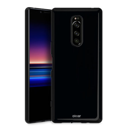 Olixar FlexiShield Sony Xperia 1 Case - Black