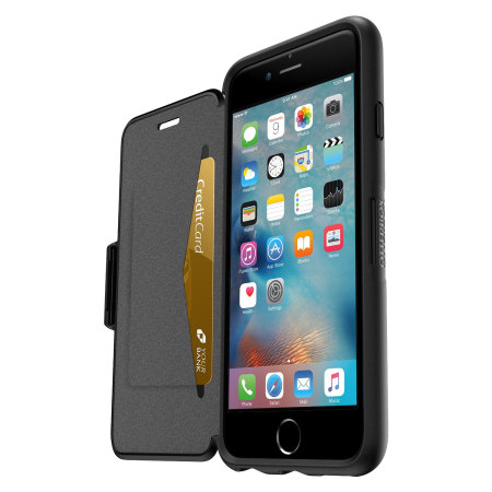 Otterbox Symmetry Iphone 6s 6 Folio Wallet Case Black