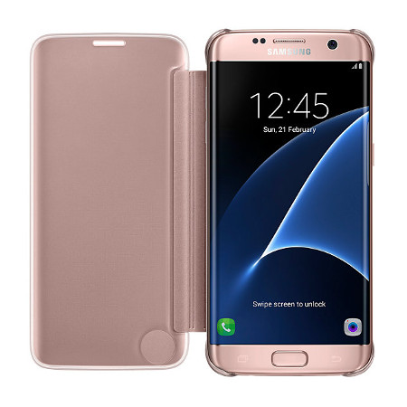 Official Samsung Galaxy S7 Edge Clear View Cover Case