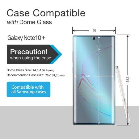 protection d ecran samsung galaxy note 10 plus whitestone dome glass