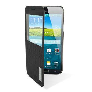 ROCK Elegant Samsung Galaxy S5 Smart View Flip Case - Black