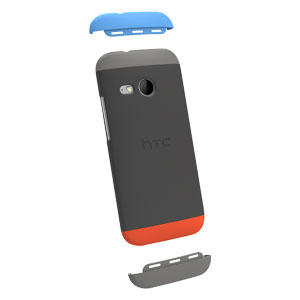 Official HTC One Mini 2 Double Dip Hard Shell - Grey and Red