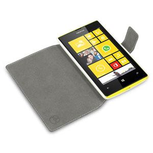 Nokia Lumia 520 Folio Book Case - White