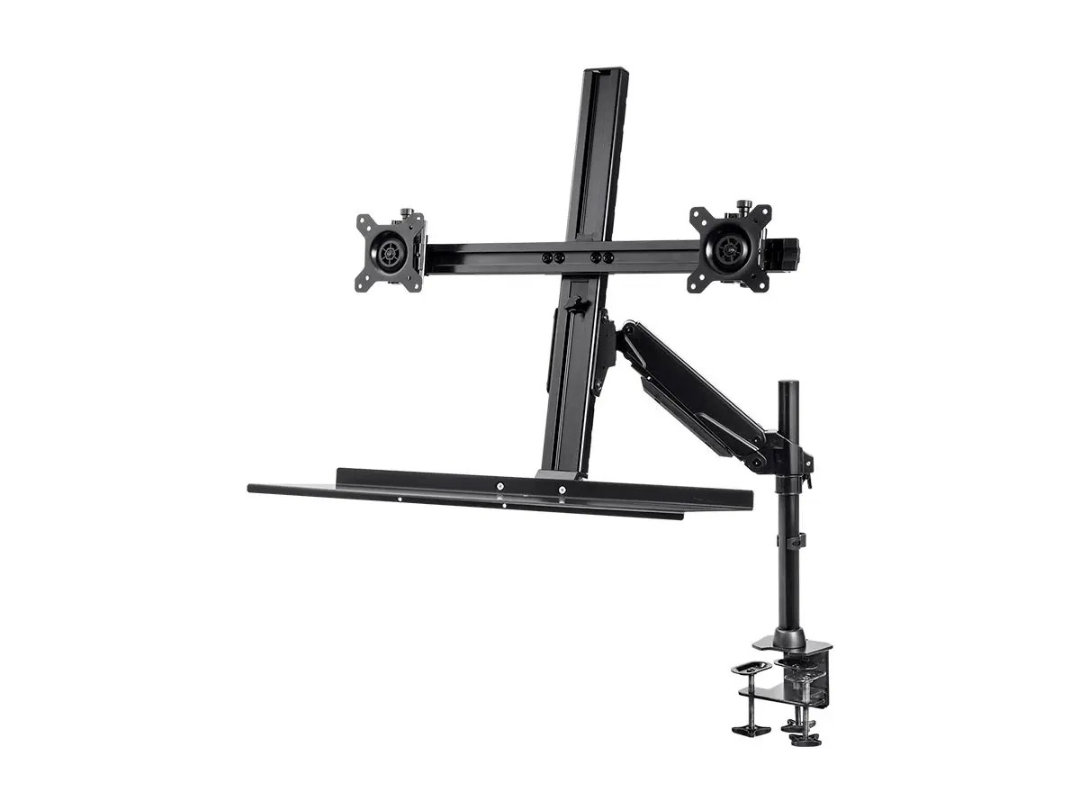 Monopriceheight Adjustable Sit Stand Dual Monitor And