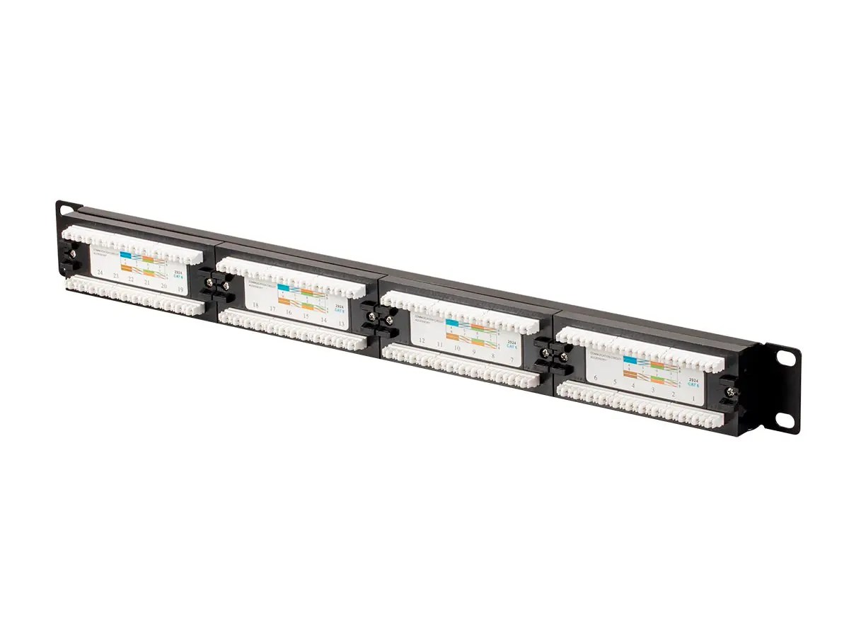 Monoprice Cat6 Utp 19 Inch 1u Patch Panel 24 Port With