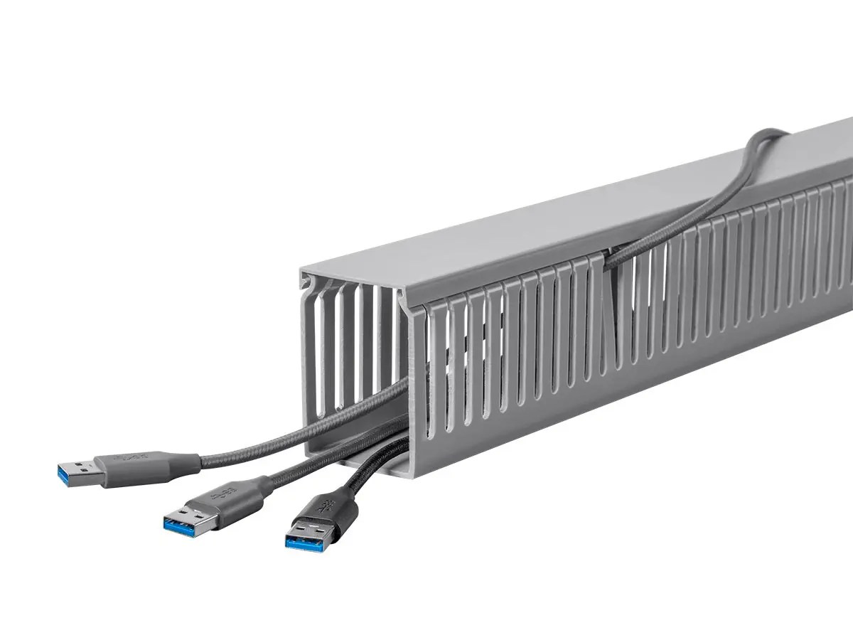 Monoprice Open Slot Wiring Raceway Duct With Cover, 6 Feet