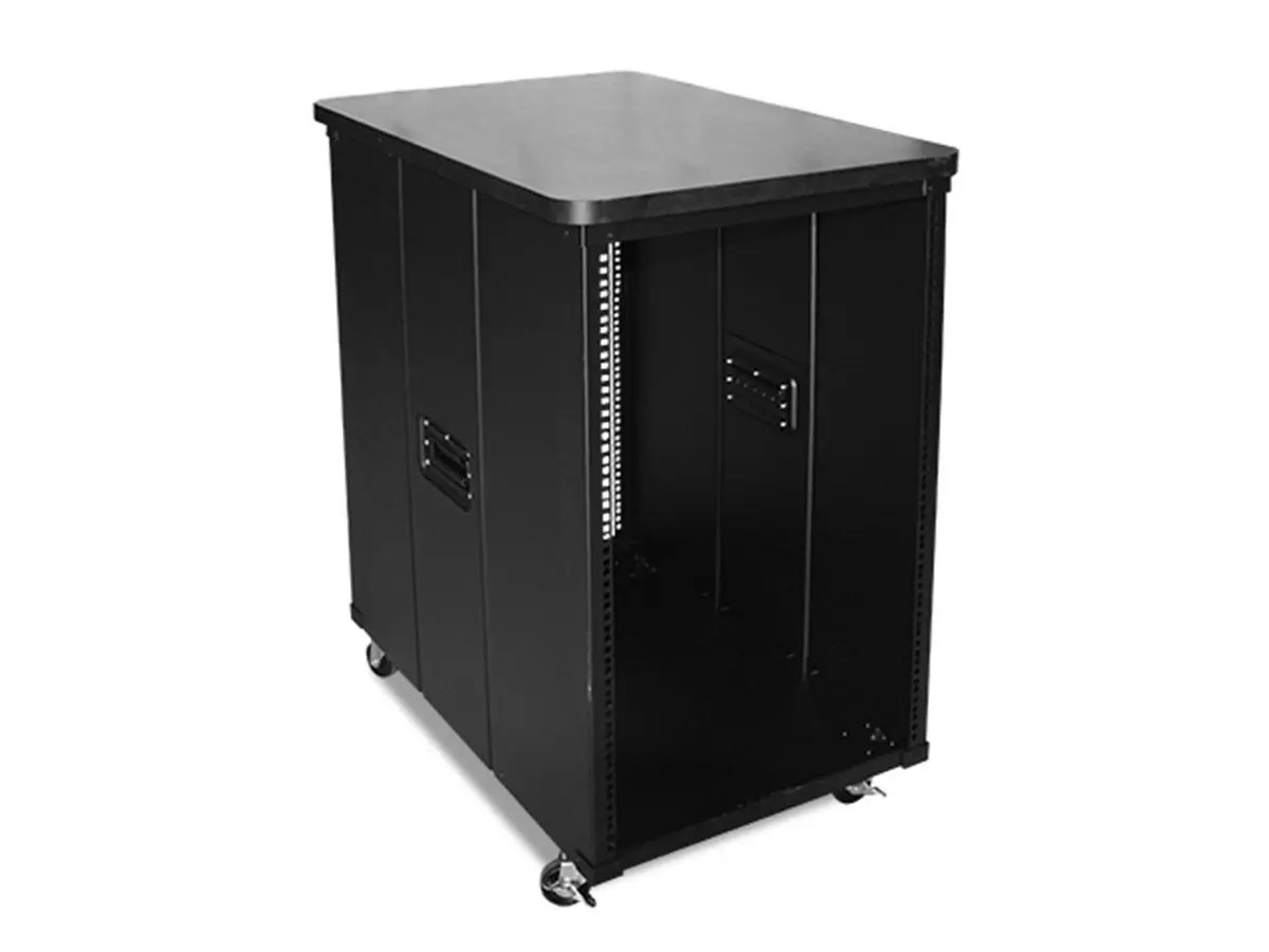 monoprice 9u 600mm depth simple server rack with wood top gsa approved